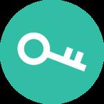 Schlüsselsymbol - Sie können einen Zugang zum verschlüsselten Kundenportal unseres Schreibbüros beantragen