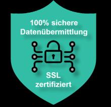 Dieses SSL-Siegel verdeutlicht, wie sicher die Datenübermittlung bei unserem Schreibbüro abläuft