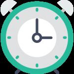 Diese Uhr verdeutlicht, wie schnell und gleichzeitig günstig und korrekt unser Schreibbüro für Sie arbeitet
